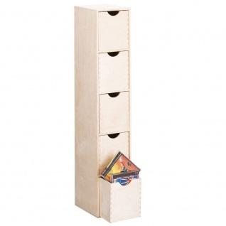 Behälter für Kleinigkeiten, 5 Schubladen, Holz, 86x21x18 cm, ZELLER