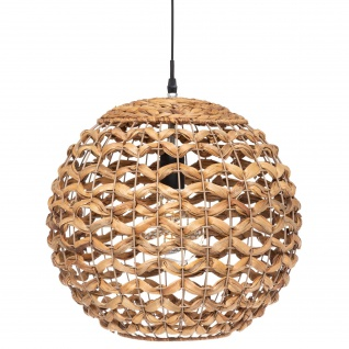 Hängeleuchte SAND mit Lampenschirm aus Hyazinth, Ø 38 cm
