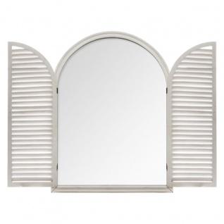 großer Spiegel für Fenster, Fensterläden aus Holz - Atmosphera