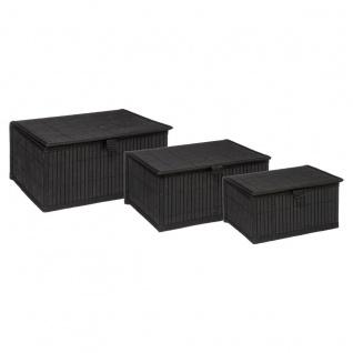 Organizer-Set in drei Größen BAMBOU, schwarz - 5five Simple Smart