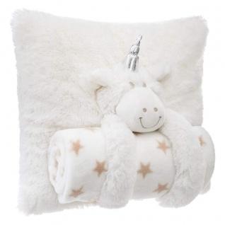 Set Kissen und Decke Einhorn, Elfenbein - Atmosphera for kids - Vorschau 3