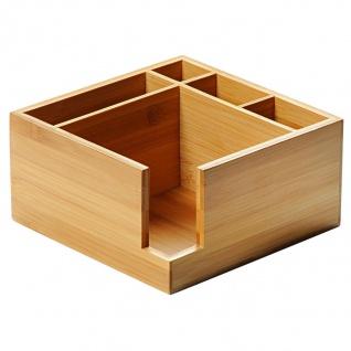 KESPER Serviettenspender-Besteckkasten 5-fach aus FSC-zertifiziertem Bambus / Besteckhalter / Box - Kesper