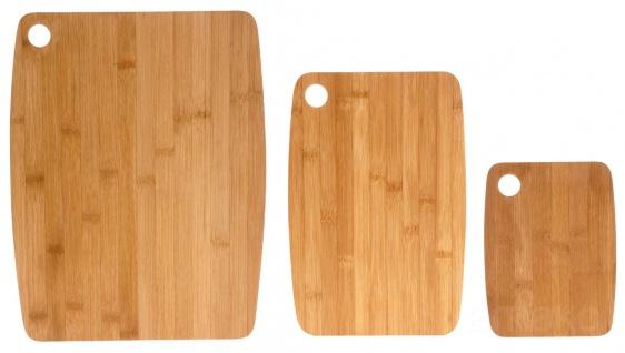 3 teiliges Set von Bambus-Tabletts - Vorschau 2