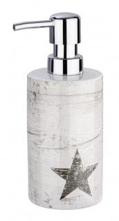 Flüssigseifenspender, Keramikflüssigkeitsbehälter mit Chromspender - WENKO
