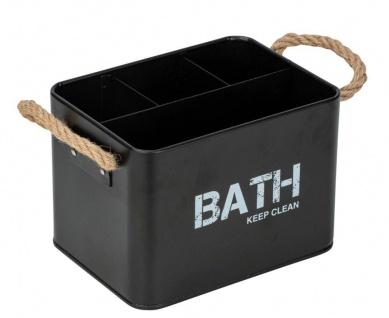 Badezimmer Organizer GARA, Farbe schwarz, Wenko