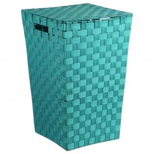 Wäschekorb, geflochtener Behälter mit Deckel intensiver Farbe