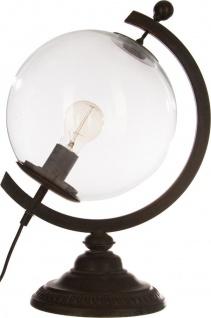 Atmosphera Créateur d'intérieur, Tischleuchte mit einem Globus-Thema - schwarz