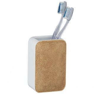 Zahnbürstenhalter, Becher für Zahnbürste AMBILA BEIGE, Wenko