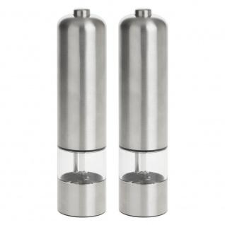 2er Set elektrische Mühlen für Salz und Pfeffer, LED, 2er Set - Secret de Gourmet