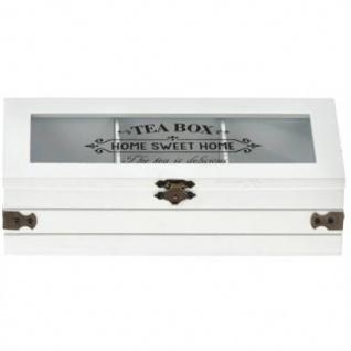 Teebox mit Aufschrift SWEET HOME, Holz, 24 x 9 x 9 cm - Vorschau 1