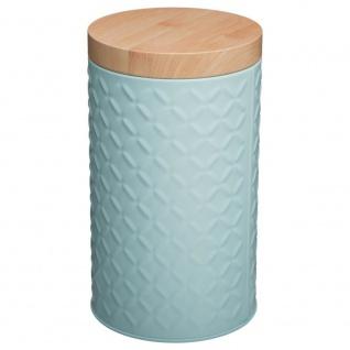 Runder Behälter aus Metall für lose Produkte - grau Ø 11 cm