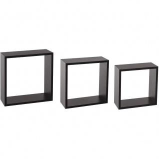 Dekorative Regale FIXY, 3 Stück, schwarz - Atmosphera