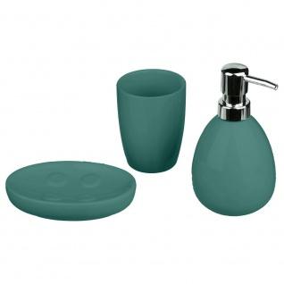 Badezimmer-Set 3 Elemente aus Keramik, Burgunder Farbe - 5five Simple Smart