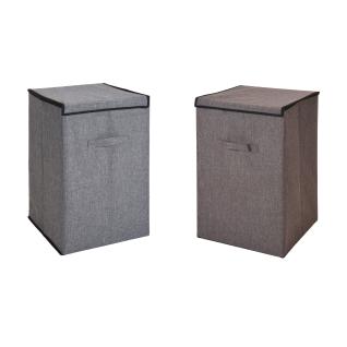 Wäschesack, Wäschekorb, zusammenklappbar, grau