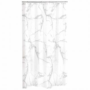 Duschvorhang MARBRE, 180 x 200 cm, weiß