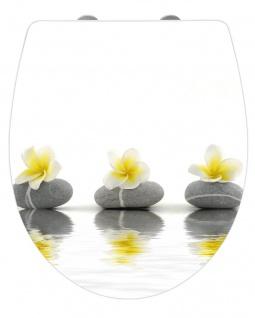 WENKO WC-Sitz Hochglanz Acryl Stones with Flower
