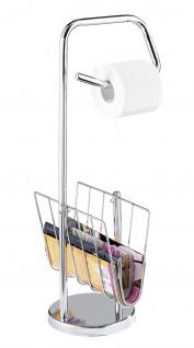 Toilettenpapierhalter mit Zeitungsständer, 2in1, WENKO