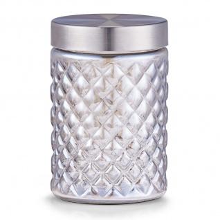 ZELLER Vorratsdose, Elegantes Glas, 1100 ml