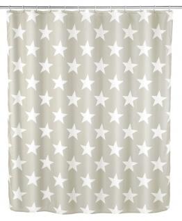 Polyester Duschvorhang wasserdicht STELLA mit Aufdruck - 180 x 200 cm, WENKO