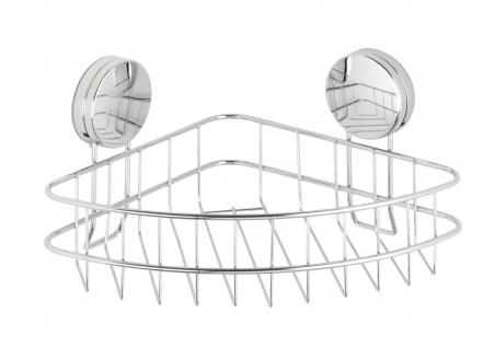 Eckregal für die Dusche OSIMO Static-Loc, verchromter Stahl, 26, 5 x 13, 5 x 19 cm, Wenko