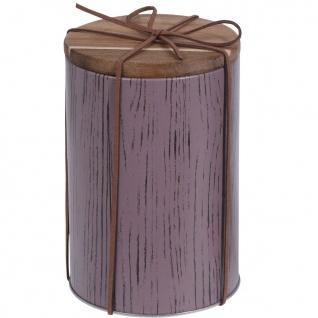 Metallbehälter für lose Lebensmittel, Ø 10 x 15 cm, violett - EH Excellent Houseware