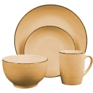 Geschirr-Set für 4 Personen, Keramik, rosa