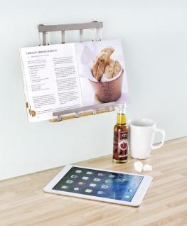 Wenko Tablethalter Premium-Ständer Halter für Tablets, E-Reader, Smartphones und Kochbücher, Metall vernickelt, 19 x 23 x 7, 5 cm, silber matt - Vorschau 3