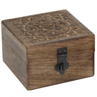 Holzkiste für Kleinteile, helles Holz mit weißem Rand