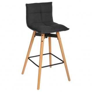 Barhocker, hoher Stuhl, weicher Sitz, Höhe: 96 cm, weiß