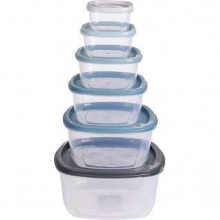 Lebensmittelbehälter mit Deckel, 6 Stück
