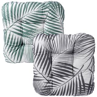 Sitzauflage mit exotischem Muster, grau