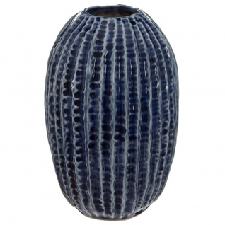 Keramik Vase Deko, Deko Blume Dekoration OCEAN, Dunkelblau