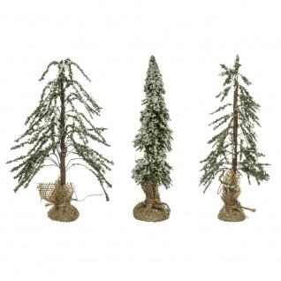 Künstliche Weihnachtsbäume mit Jute, 3er Set - Fééric Lights and Christmas