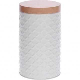 Ein runder Metallbehälter für Lebensmittelprodukte, Aufbewahrung Ø 11 cm
