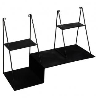 Hängeregal LUNA, schwarz, 50 x 34 cm