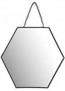 Wandspiegel in Form eines Sechsecks, Breite 20 cm