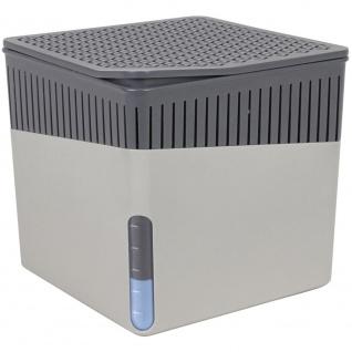 Feuchtigkeitsabsorbierendes Gerät, eleganter Adsorptionsentfeuchter - unterstützt bis zu 40 m3 Luft, 13 x 13 x 13 cm, WENKO