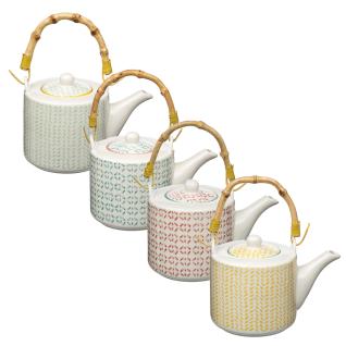 Teekanne mit Bambusgriff, Teekanne für Tee - 630 mle