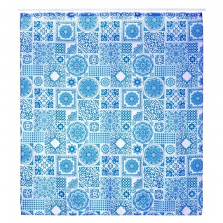 Duschvorhang CADENCE 180x200 cm, Polyester, Schachbrett - 5five Simple Smart
