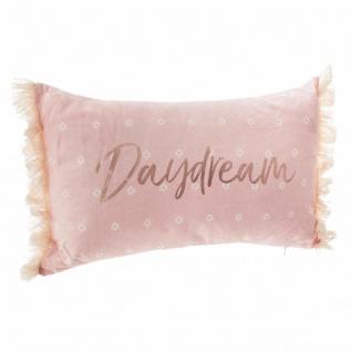 Dekokissen DAYDREAM, mit Fransen, 50 x 30 cm, rosa