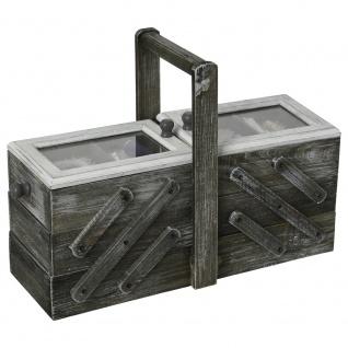 Praktischer Nieter, Organizer, Werkzeugkasten, langlebig, aus Holz, mit Tragegriff, braun