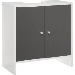 Schrank unter der Spüle mit Tischplatte, weiß, stehend Badezimmer Kommode. - 5five Simple Smart