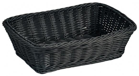 Geflochtener Brotkorb in schwarz, praktischer und pflegeleichter Brotkorb - Vorschau 1