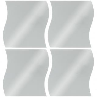Set mit 4 dekorativen Spiegeln, Wandspiegeln, Spiegel ohne Rahmen