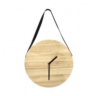 Wanduhr mit Schnur zum Aufhängen, COSY LOFT, Ø 28 cm, Holz