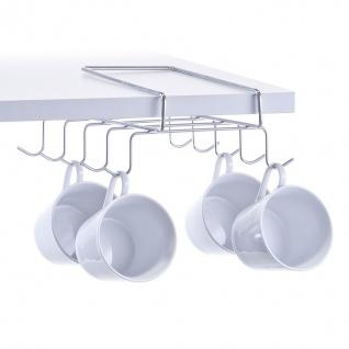 Küchenaufhänger für Tassen und Tassen, Stahl verchromt, ZELLER - ZELLER