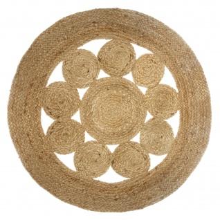 Deko-Teppich aus Jute, Ø 80 cm, rund, Boho-Stil - Vorschau 1