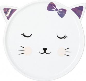 Dekoplatte aus Keramik in Katzenform, niedliche Dekoration für Kinderzimmer - Atmosphera