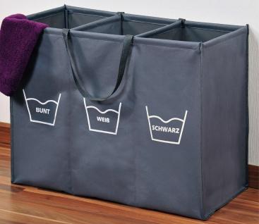 Wäschesortierer, Faltbarer Wäschekorb mit Fächern, Wäschekorb, Badezimmerkorb