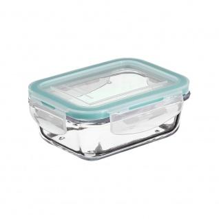Lebensmittelbehälter, Lunchbox, Glas mit Deckel, Fassungsvermögen 0, 54 l